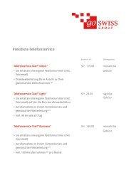 Preisliste Telefonservice - go swiss Group AG