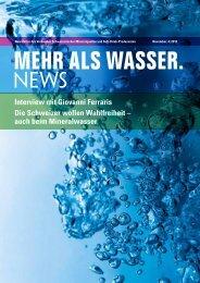 auch beim Mineralwasser - Verband Schweizerischer ...