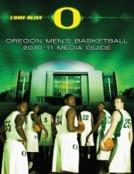 oregon men's basketball 2010-11 media guide ... - GoDucks.com