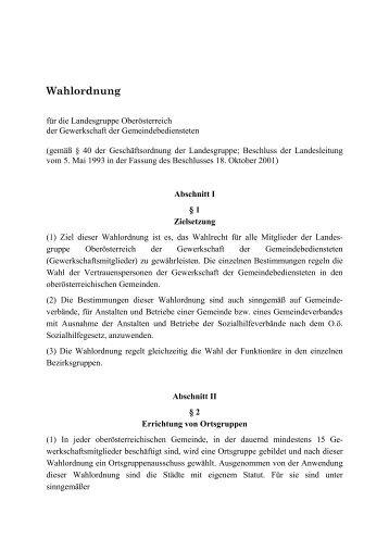 Wahlordnung - FSG
