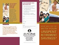 Gift Of Retirement Assets