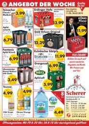 ANGEBOT DER WOCHE Greifen - Getränkefachmarkt Scherer