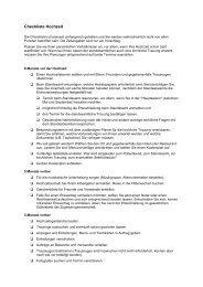 Checkliste Hochzeit - Gemeinde Bisingen