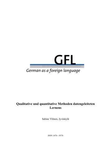 Qualitative und quantitative Methoden ... - GFL-Journal