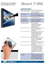 iBoard T-IR6 - Grunwald Display Solutions GmbH