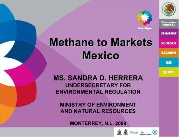 Methane to Markets in Mexico - Global Methane Initiative