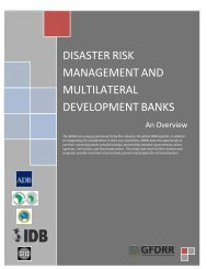 disaster risk management and multilateral development ... - GFDRR