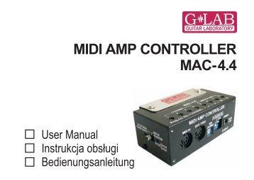 Instrukcja obsługi kontrolera MIDI MAC-4.4 - G LAB