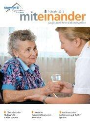 frühjahr 2012 das journal ihrer diakoniestation - Vital-Zentrum ...