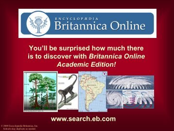 You'll be surprised how much there is to discover with Britannica ...