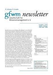 GfWM newsletter 1 / 2013 - mänz + rossmann ...