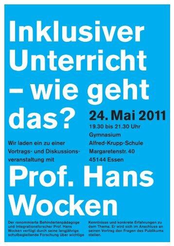 Inklusiver Unterricht - GEW Stadtverband Essen