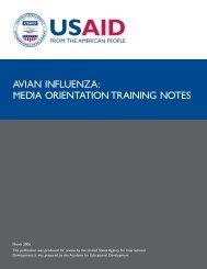Avian Influenza Media Orientation Workshop - FHI 360 Center for ...