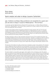 Press release 2012-02-22 Sports complex and urban re-design ...