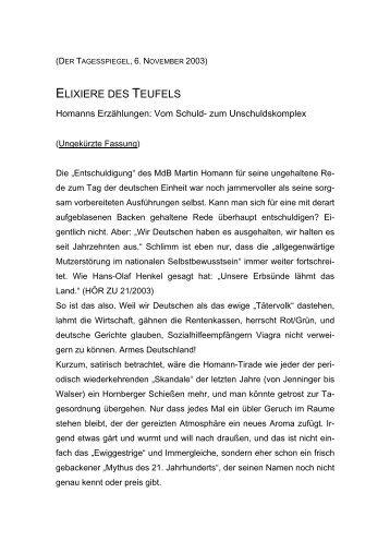 ELIXIERE DES TEUFELS - Gerd Koenen