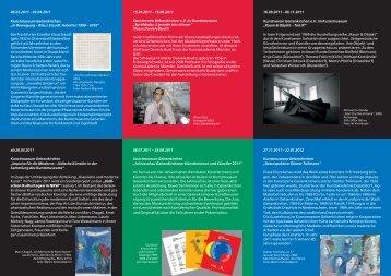 Flyer Ausstellungsplan 2011 - Stadt Gelsenkirchen