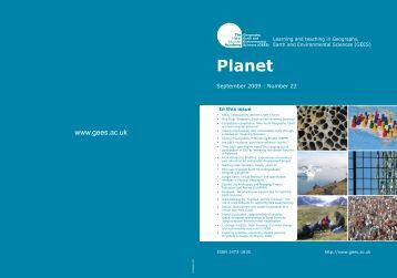Cover of Planet Issue 22 (PDF file 1mb) - GEES Subject Centre Home