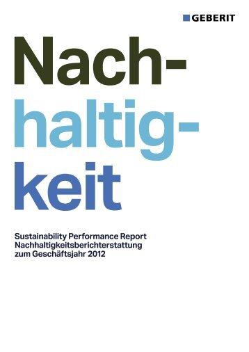 Sustainability Performance Report - Geberit International AG