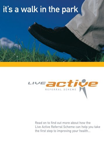 Live Active A5 Leaflet - Glasgow Life