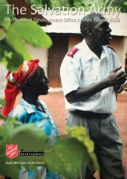 International Development Annual Report 2012 - Salvation Army