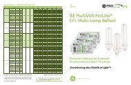 GE MultiVolt ProLine® CFL Multi-Lamp Ballast - GE Lighting Asia ...