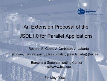 BSC parallel job extension