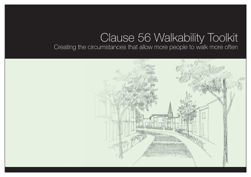 Clause 56 Walkability Toolkit - City of Greater Geelong