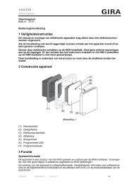 1 Veiligheidsinstructies 2 Constructie apparaat 3 Functie KNX ... - Gira