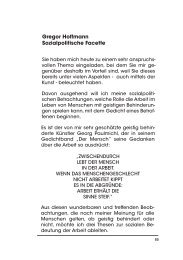 Gregor Hoffmann Sozialpolitische Facette - (GIB) e.V.