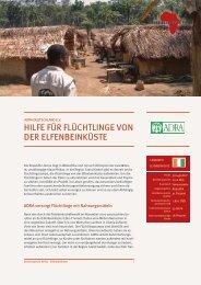 adra deutschland e.v.- hilfe für flüchtlinge von der elfenbeinküste