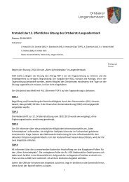 13. Sitzung 29.04.2013 - Gemeinde Dornburg