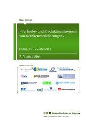 Exposé der User Group - Gesundheitsforen Leipzig GmbH