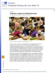 Stuttgarter Zeitung, 28. Juni, Seite 1/2