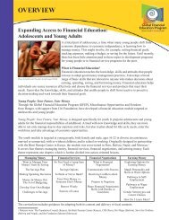 Adolescents and Young Adults - Global Financial Education Program