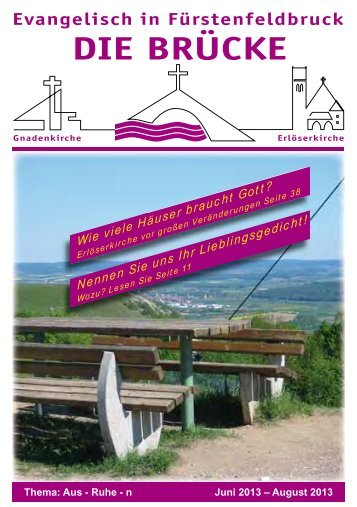 aktuellen Ausgabe - bei der Gnadenkirche