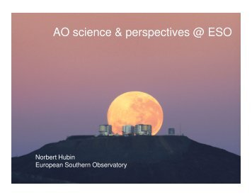 AO science & perspectives @ ESO - Gemini Observatory