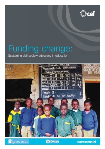 Funding Change: Sustaining Civil Society Advocacy in Education