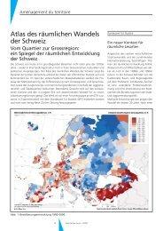 Atlas des räumlichen Wandels der Schweiz – Vom Quartier zur ...