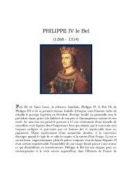 PHILIPPE IV le Bel - Grand Lodge Bet-El