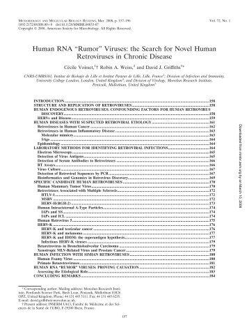 "Human RNA ""Rumor"" Viruses: the Search for Novel Human ..."