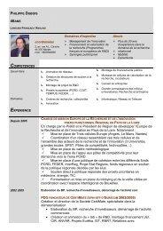 CV de PHILIPPE DUBOIS