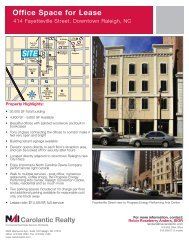 Office Space for Lease - Downtown Raleigh Alliance