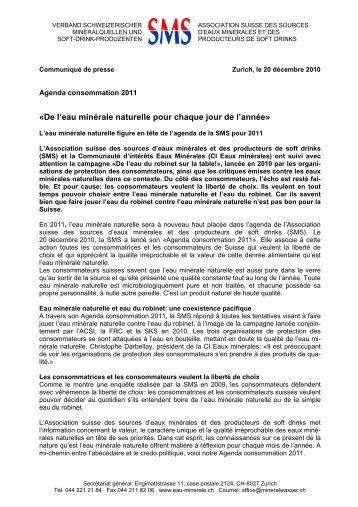 Agenda Consommation 2011» (PDF) - Verband Schweizerischer ...