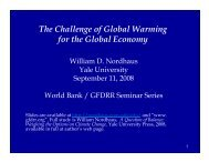 The Challenge of Global Warming for the Global Economy - GFDRR