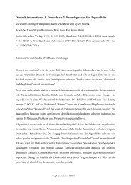 Deutsch international 1. Deutsch als 2. Fremdsprache ... - GFL-Journal