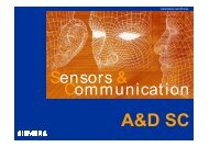 Sensors & Communication Sensors & Communication