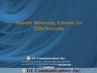 Network Monitoring Solutions for TDM Networks - GL ...