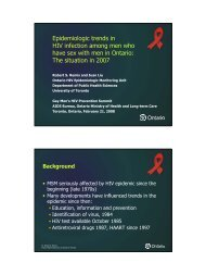 Epidemiologic trends in HIV infection among men who have ... - GMSH