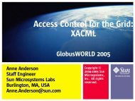 Access Control for the Grid: XACML