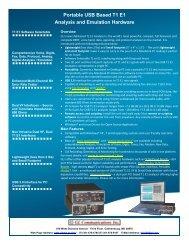 Portable USB T1/E1 Analyzers Brochure